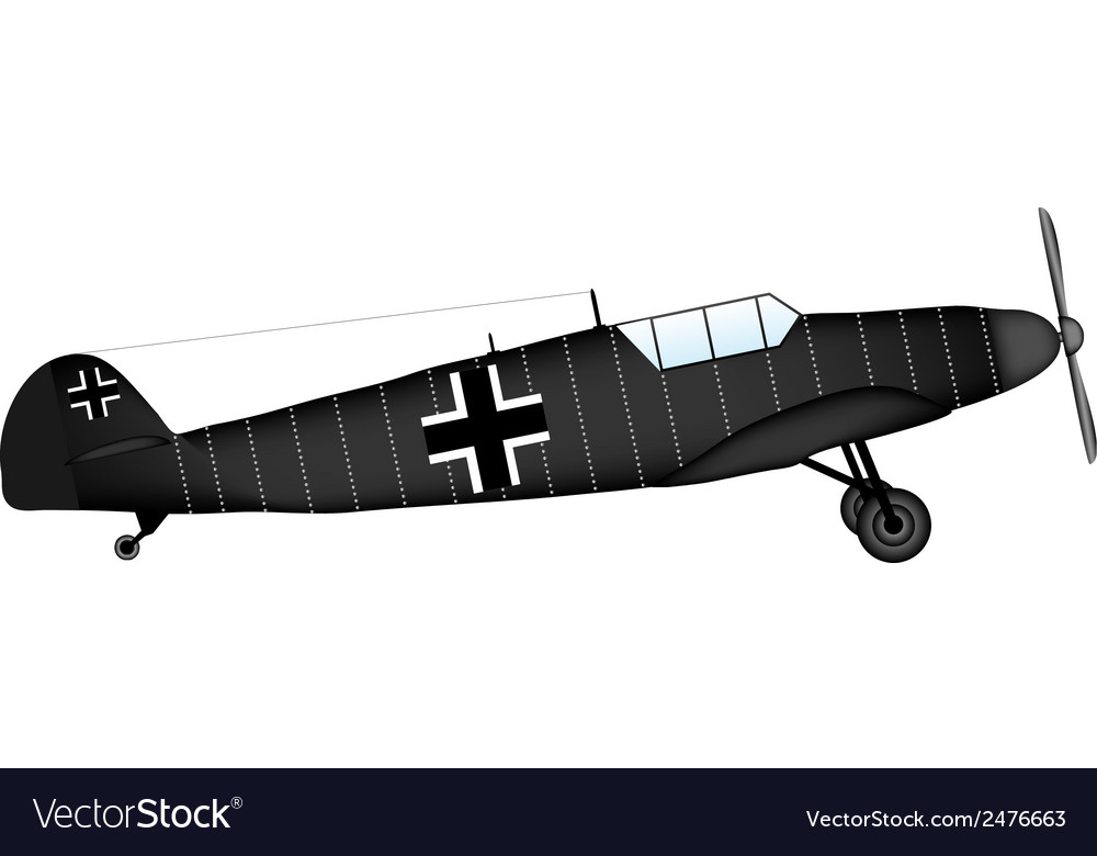 Fighter bf 109 vector | Price: 1 Credit (USD $1)