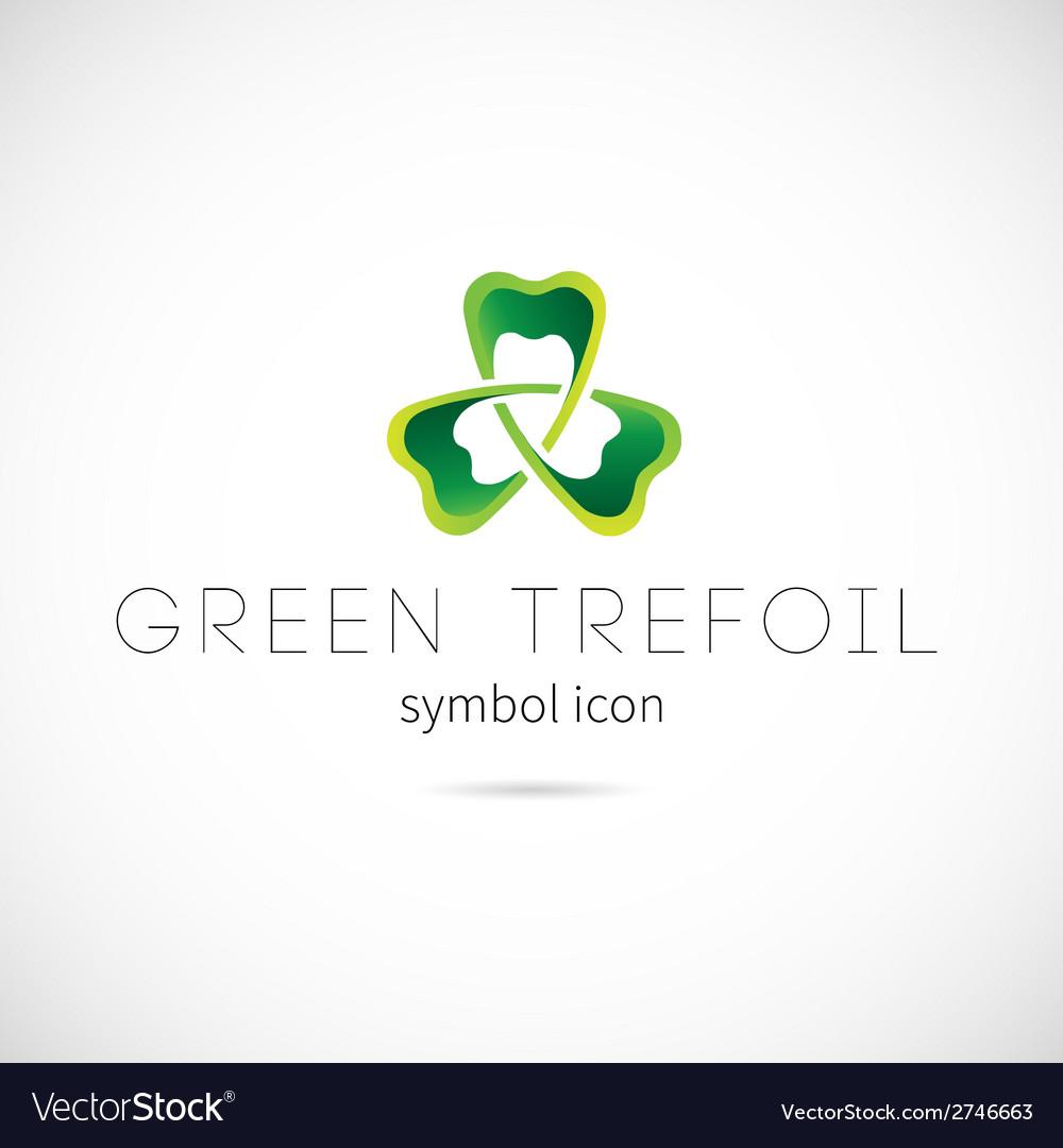 Green trefoil concept symbol icon or label vector | Price: 1 Credit (USD $1)
