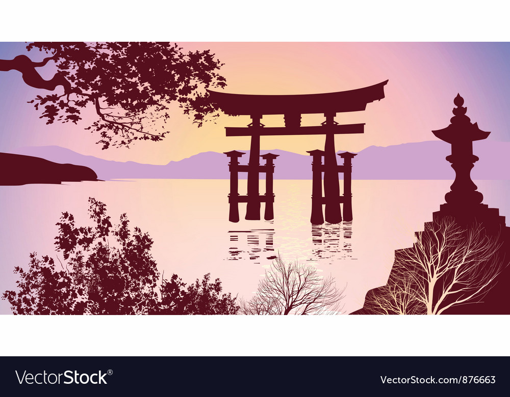 Japanese gates vector | Price: 1 Credit (USD $1)
