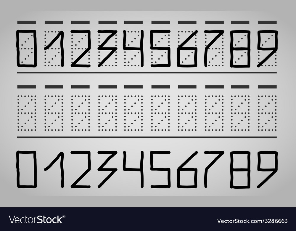 Numbers on the mail envelope vector | Price: 1 Credit (USD $1)