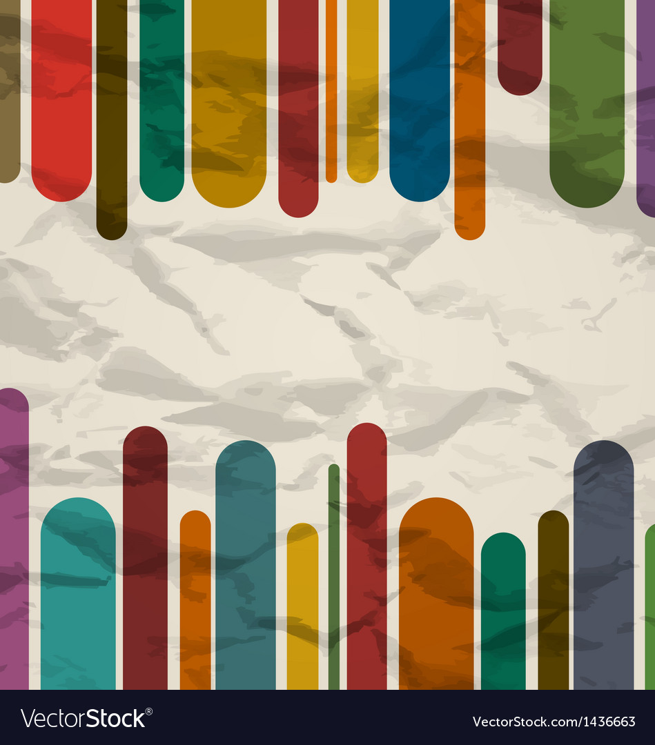 Old striped template colorful vintage background vector | Price: 1 Credit (USD $1)