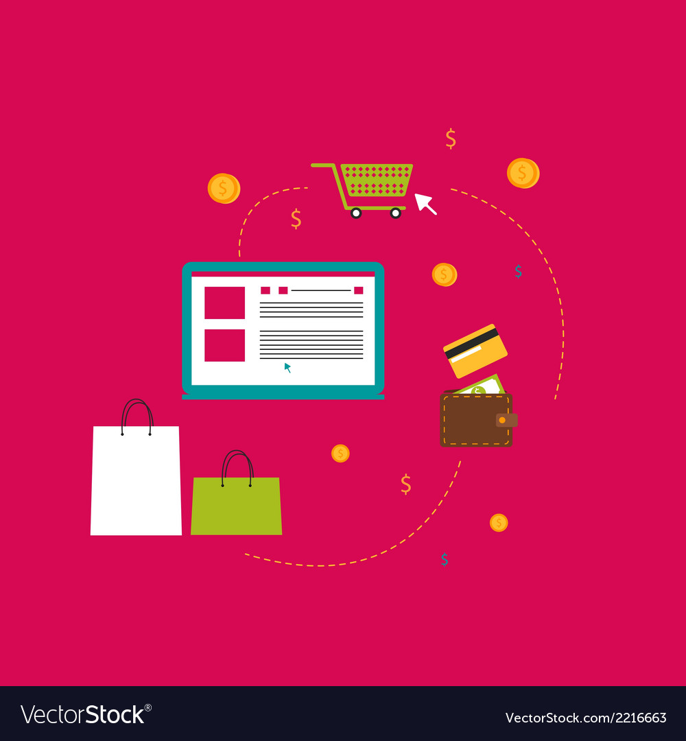 On the subject of shopping vector | Price: 1 Credit (USD $1)