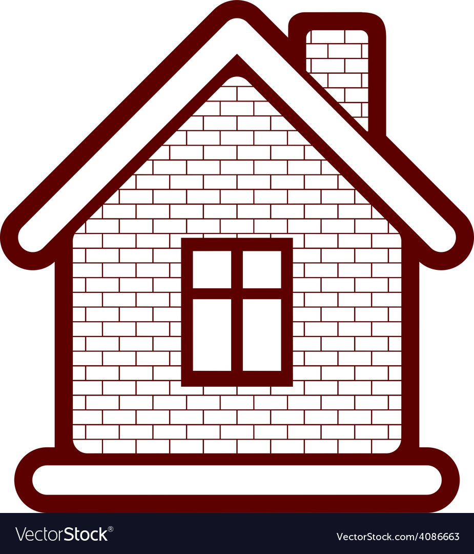 Simple village mansion icon abstract house vector | Price: 1 Credit (USD $1)