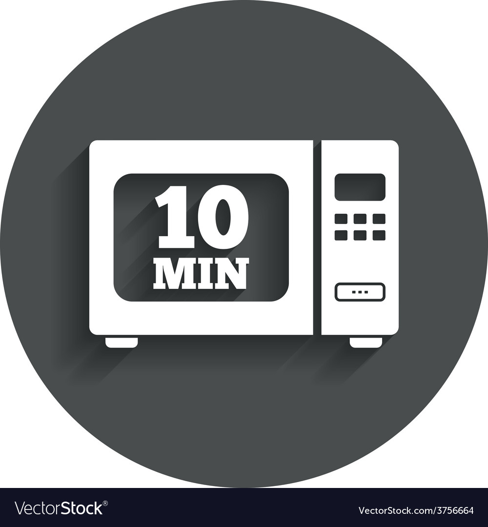Cook in microwave oven sign icon electric stove vector   Price: 1 Credit (USD $1)
