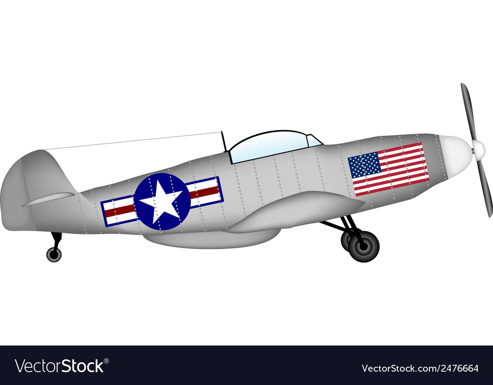 Fighter mustang vector | Price: 1 Credit (USD $1)