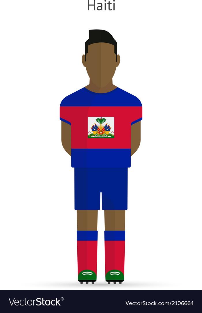 Haiti football player soccer uniform vector | Price: 1 Credit (USD $1)