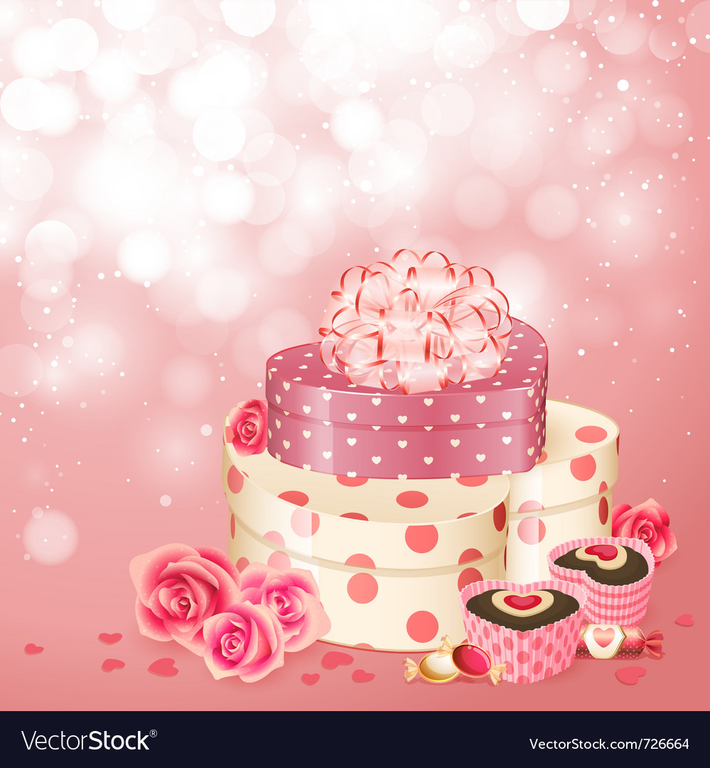 Heart shaped gifts sweets vector | Price: 3 Credit (USD $3)