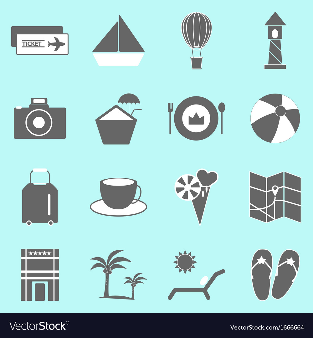 Holiday icons on light background vector | Price: 1 Credit (USD $1)