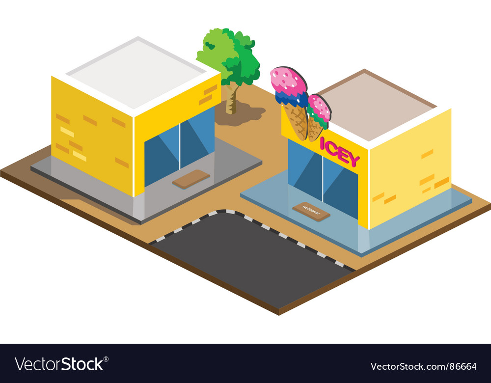 Ice-cream shop vector | Price: 1 Credit (USD $1)
