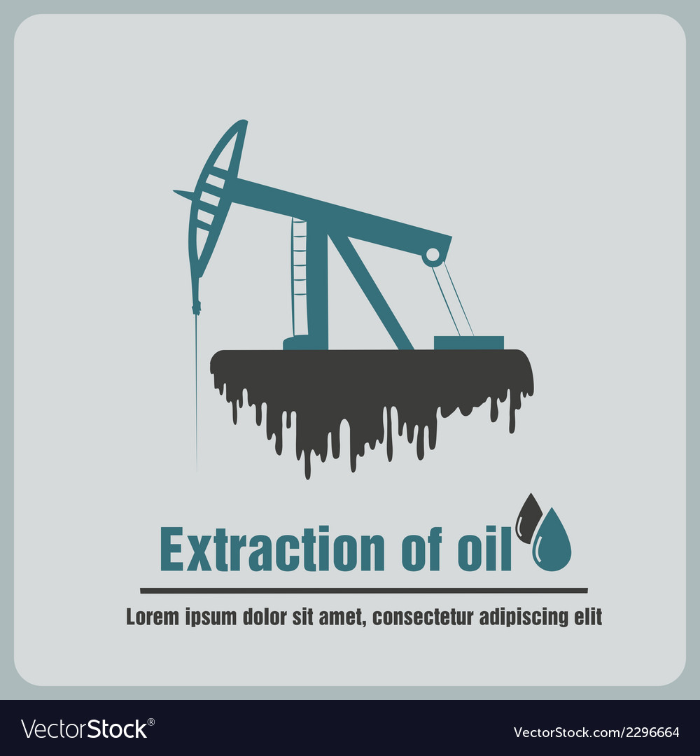 Icon oil rig vector | Price: 1 Credit (USD $1)