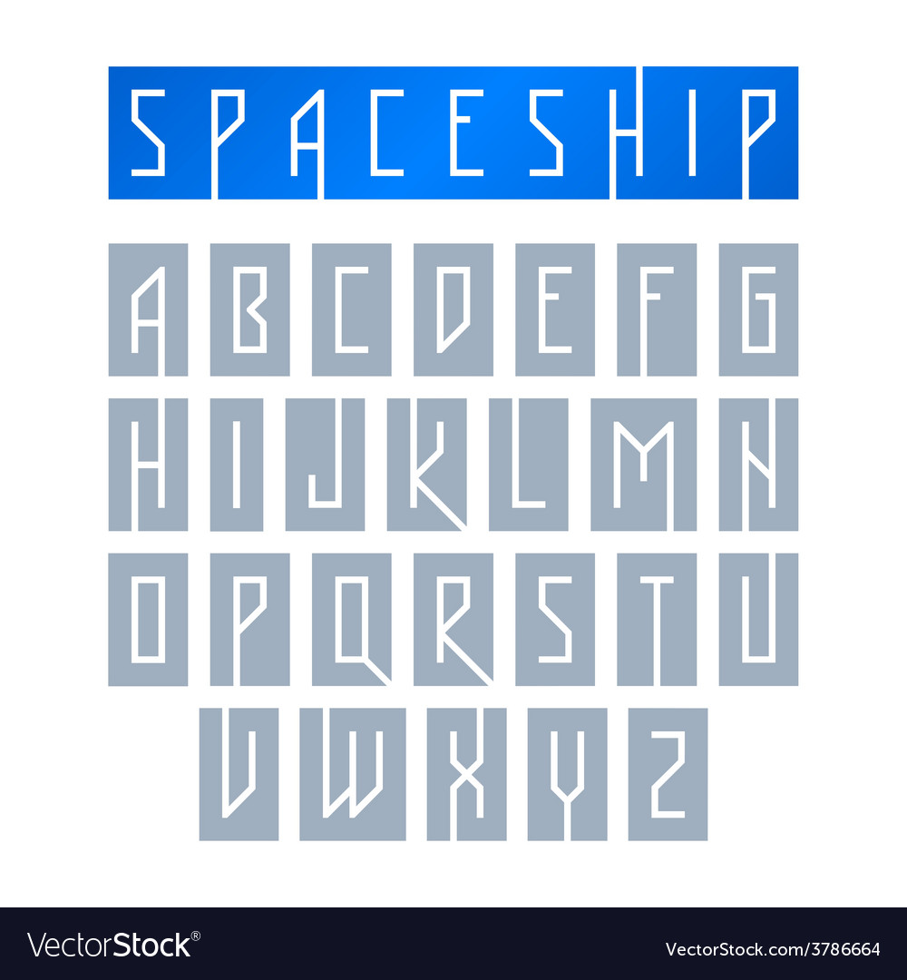 Modern font with monospaced typeface vector | Price: 1 Credit (USD $1)