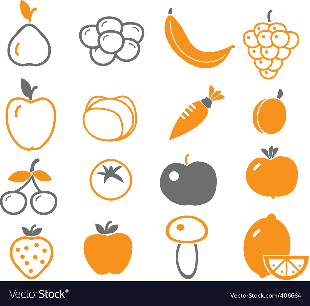 Vegetables  fruit signs vector | Price: 1 Credit (USD $1)