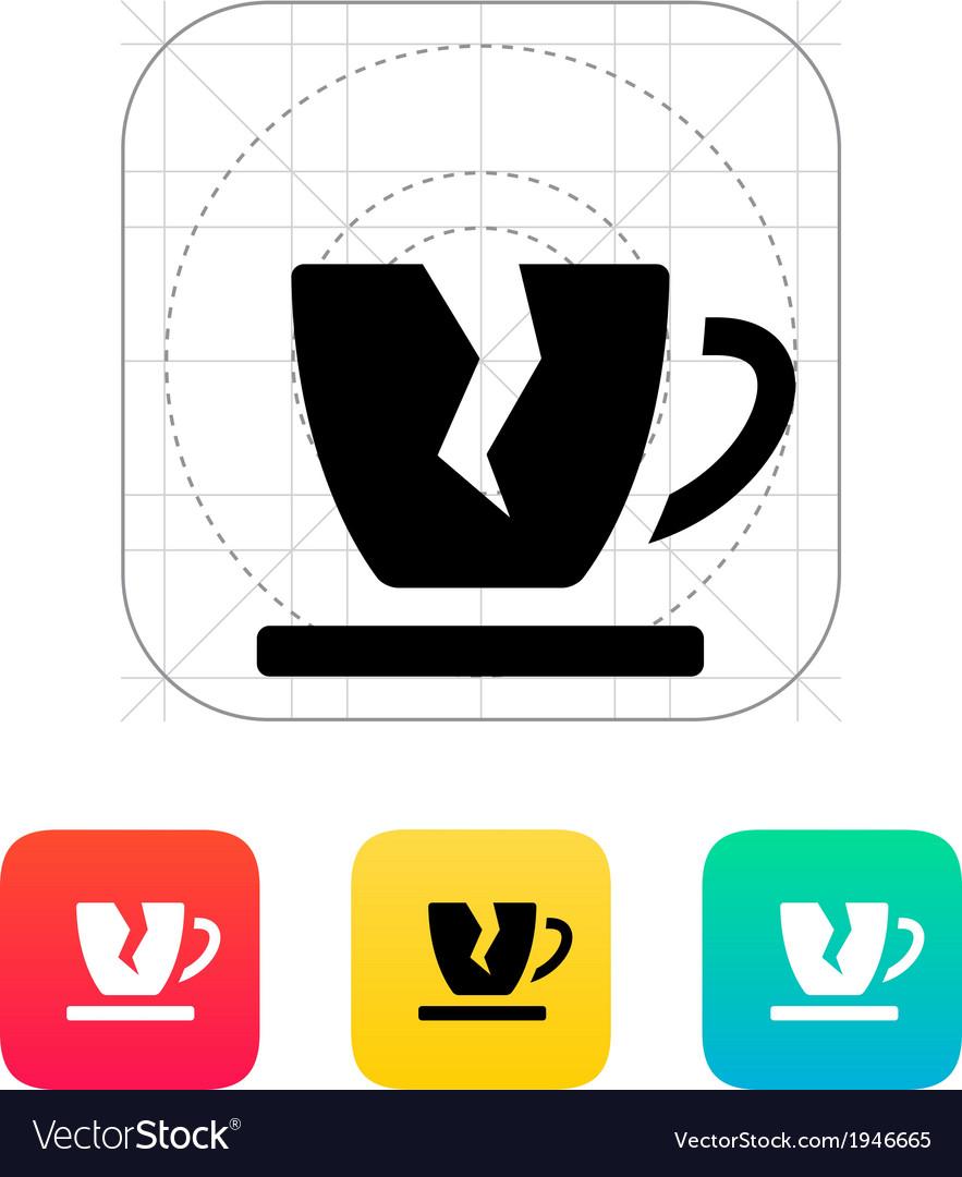 Broken cup icon vector | Price: 1 Credit (USD $1)