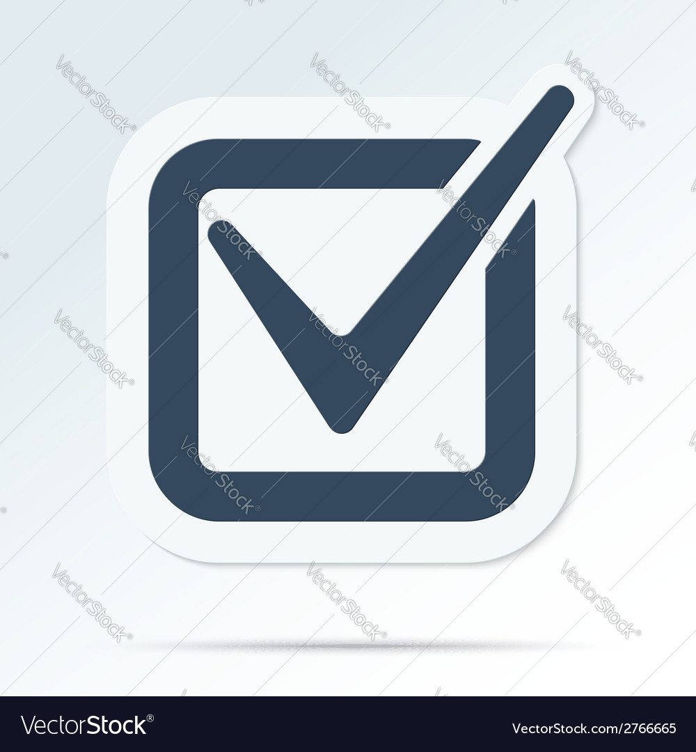 Check mark symbol vector | Price: 1 Credit (USD $1)