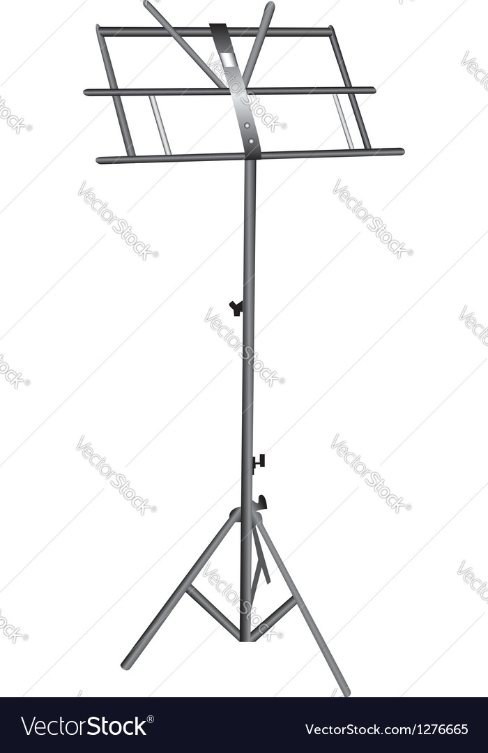 Empty music stand vector | Price: 1 Credit (USD $1)