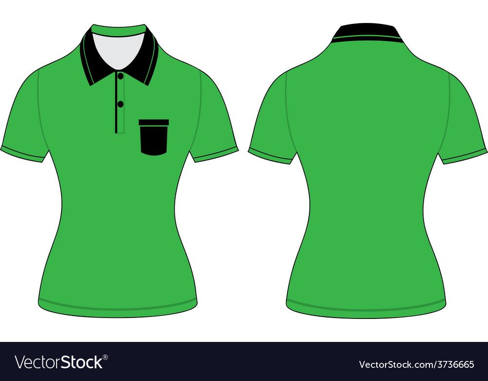 Polo woman shirt design templates vector | Price: 1 Credit (USD $1)