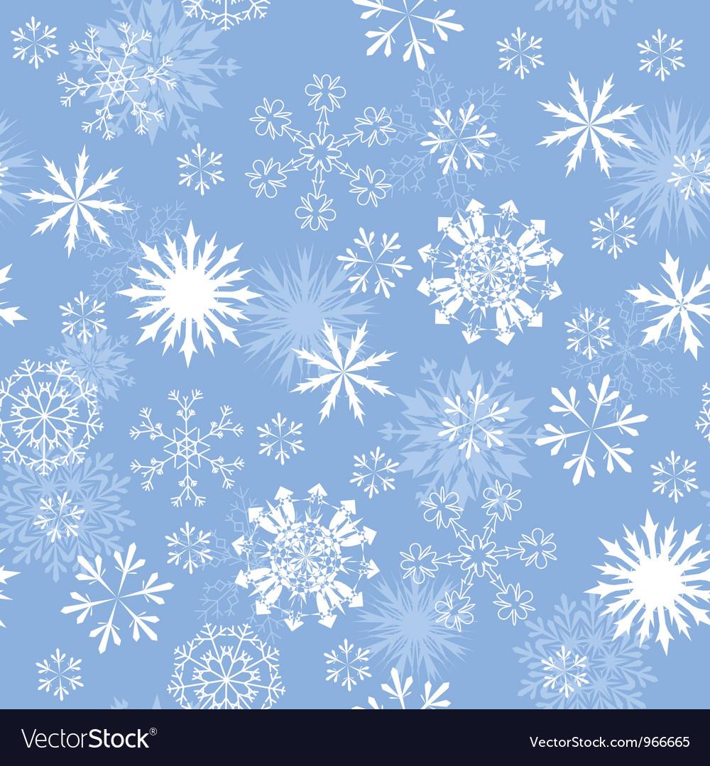 Snowflakes seamless vector   Price: 1 Credit (USD $1)