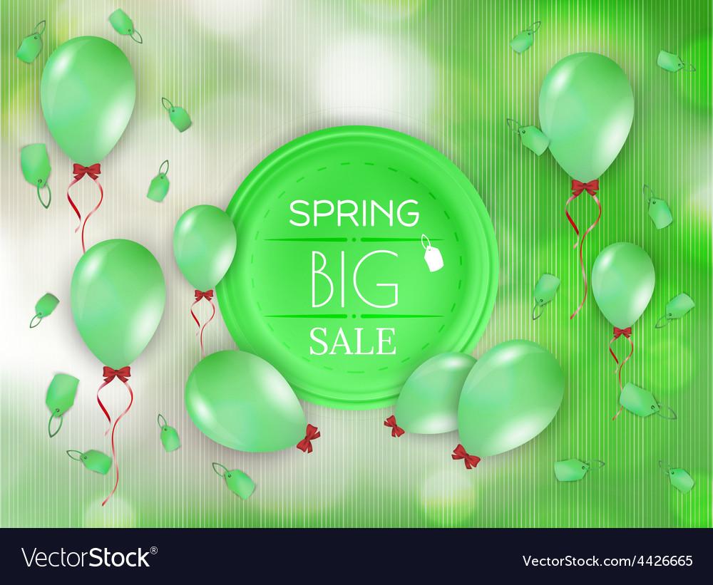 Spring sale background vector | Price: 1 Credit (USD $1)