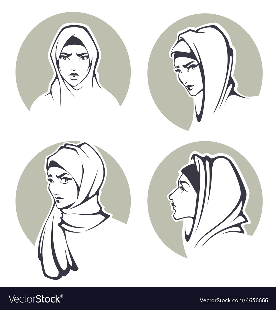 Arabian girls vector