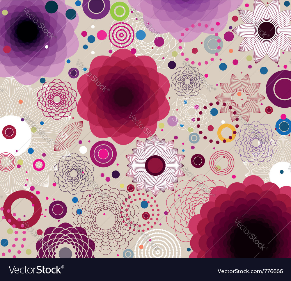 Artistic floral background vector | Price: 1 Credit (USD $1)