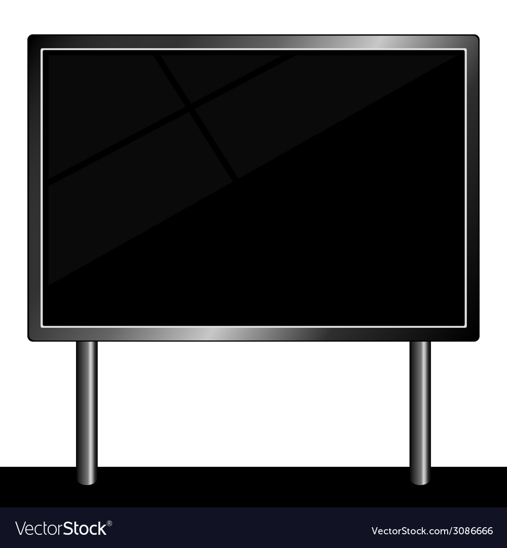 Billboard for message in black color vector | Price: 1 Credit (USD $1)