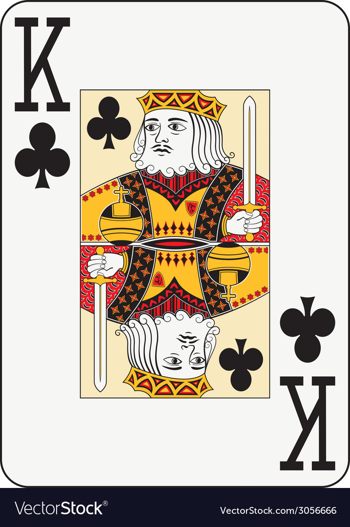 Jumbo index king of clubs vector | Price: 1 Credit (USD $1)