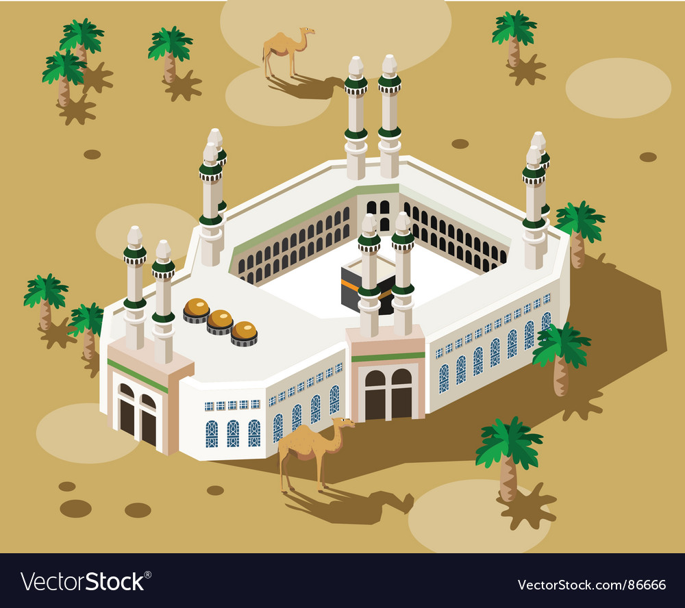 Mosque in mecca vector | Price: 1 Credit (USD $1)