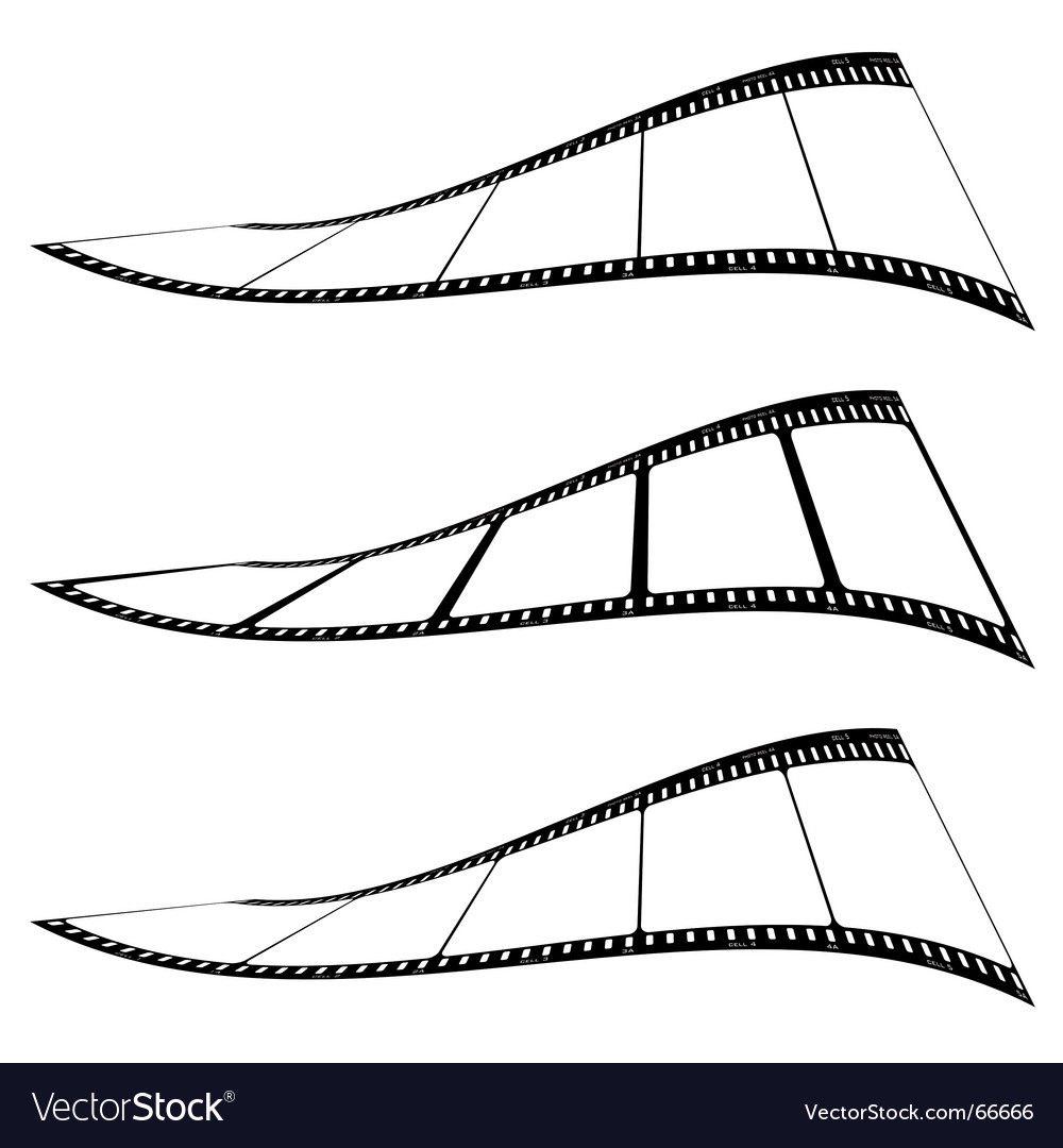 Photo film strip twist vector | Price: 1 Credit (USD $1)