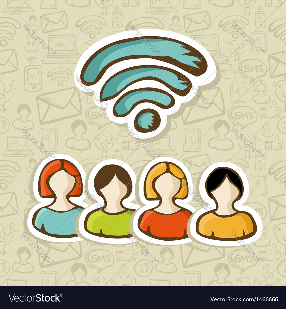 Social media rss interaction vector | Price: 1 Credit (USD $1)