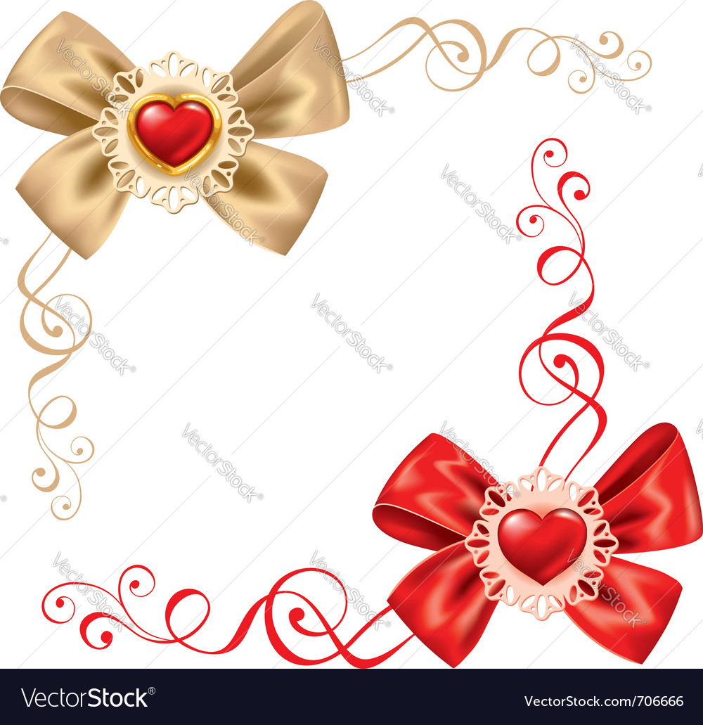 Valentines day set cute rosette vector | Price: 1 Credit (USD $1)
