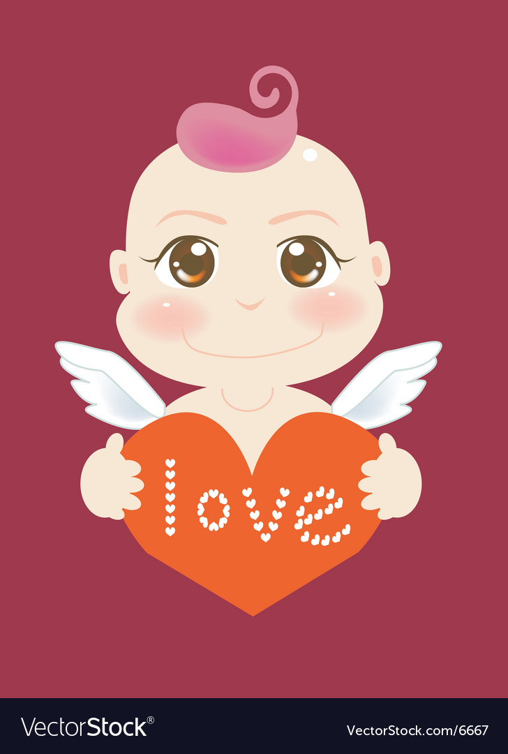 Angel love vector | Price: 3 Credit (USD $3)