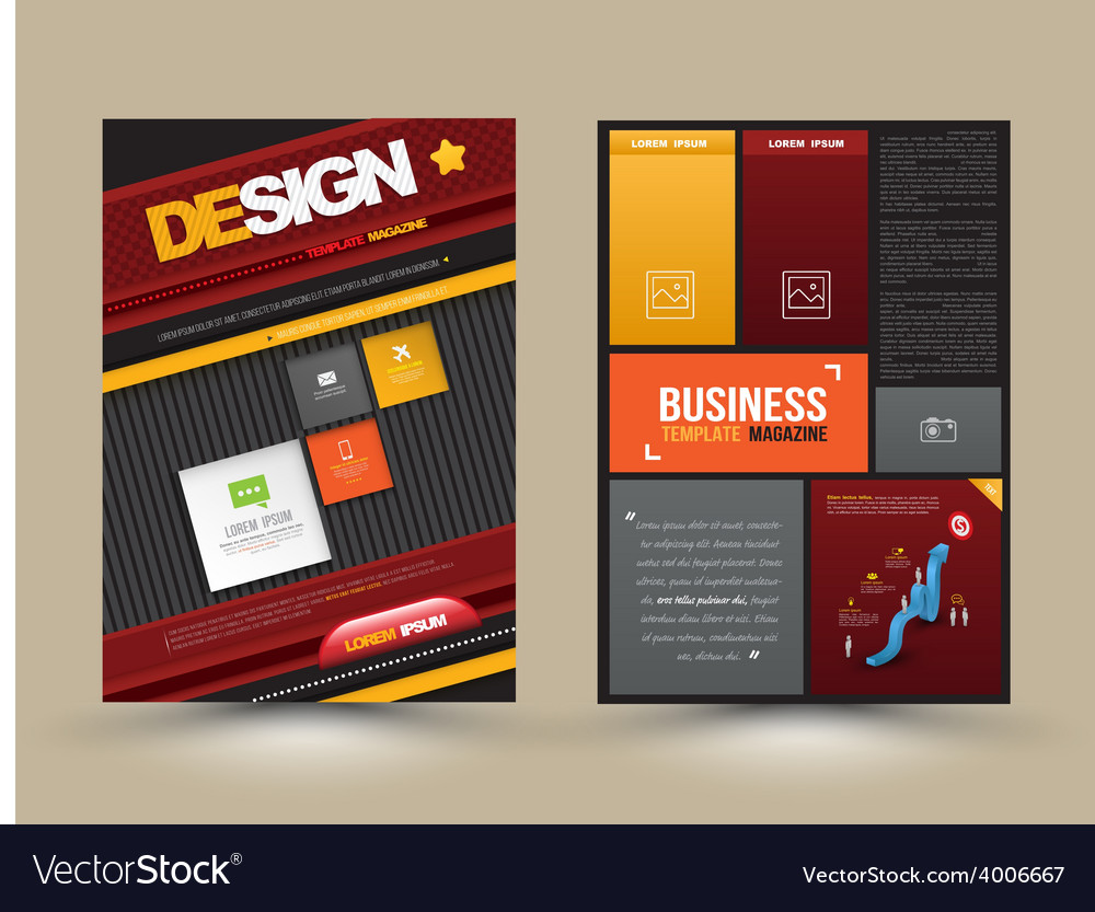 Design page template modern style vector | Price: 1 Credit (USD $1)