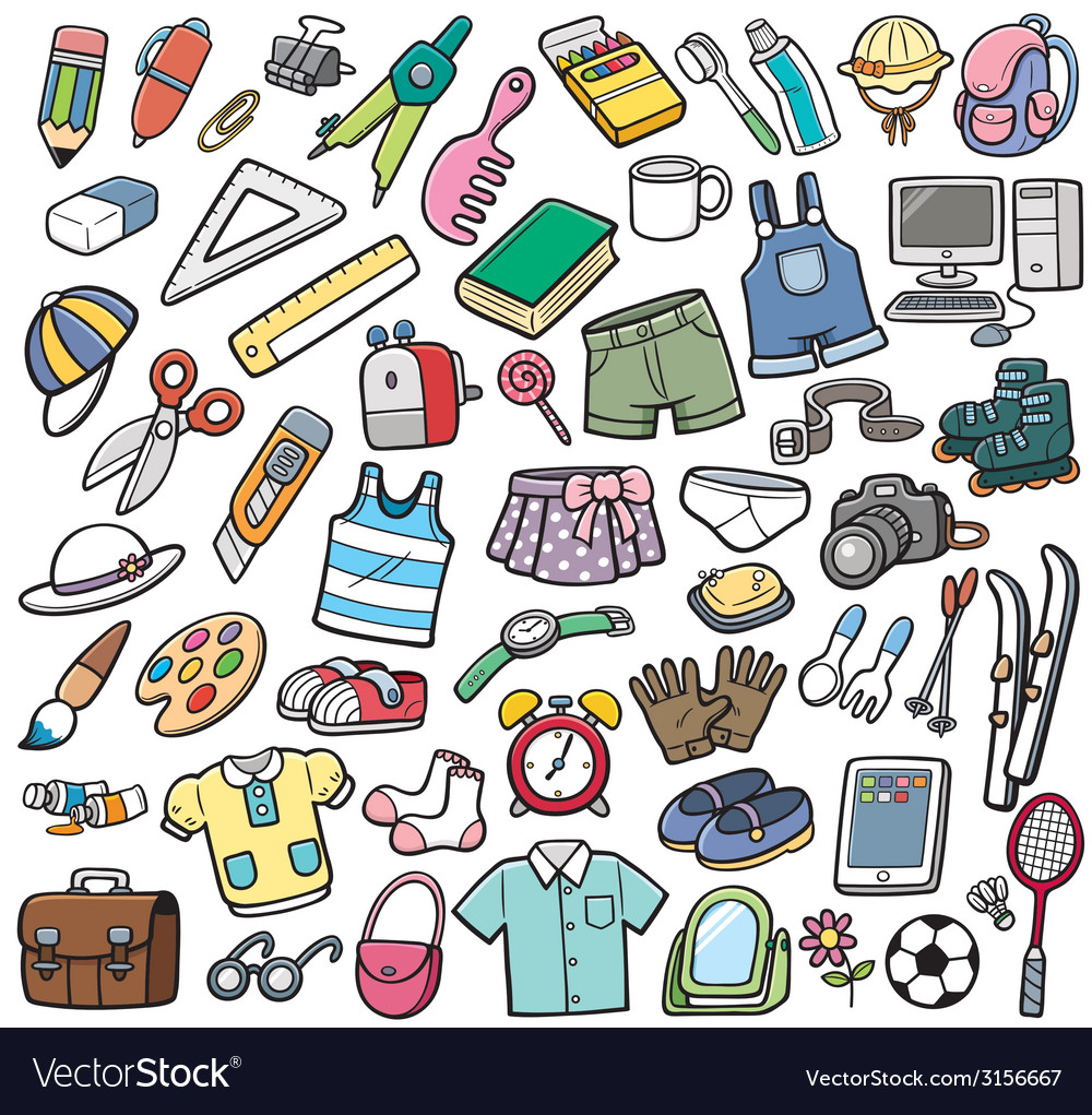 Different objects vector | Price: 1 Credit (USD $1)