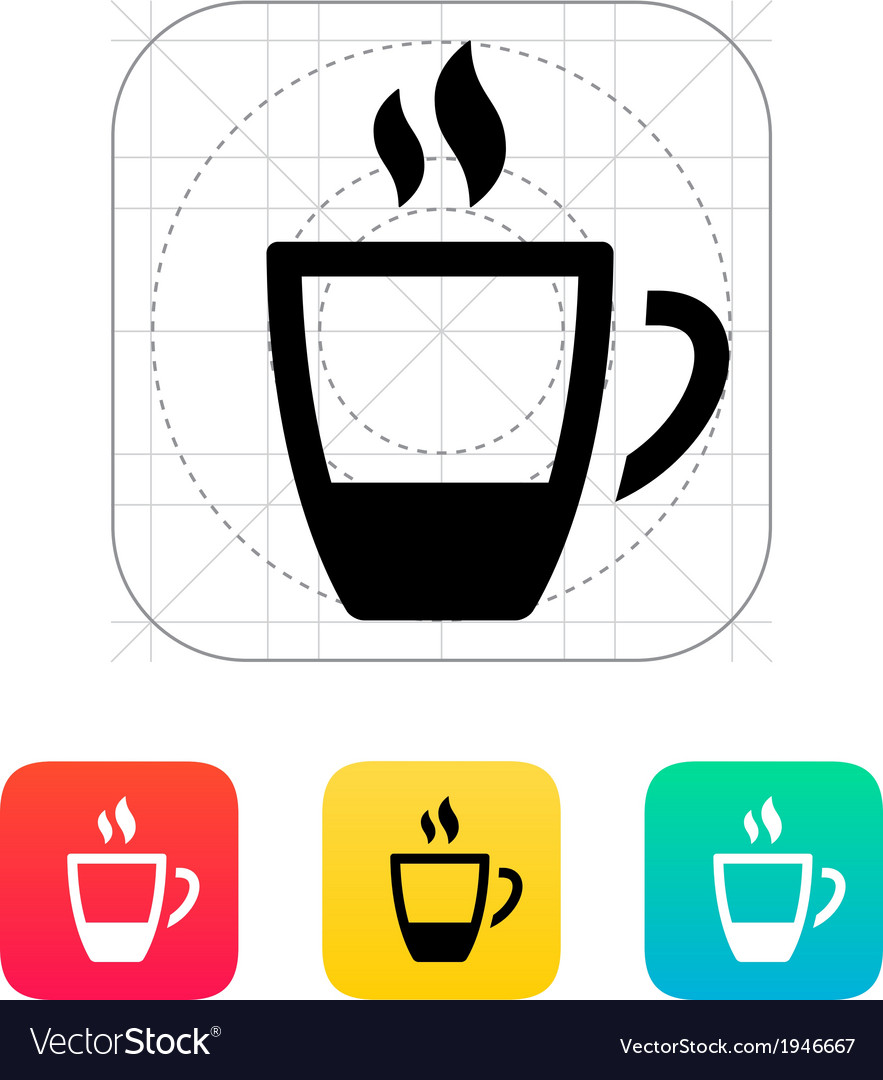 Ending coffee cup icon vector | Price: 1 Credit (USD $1)