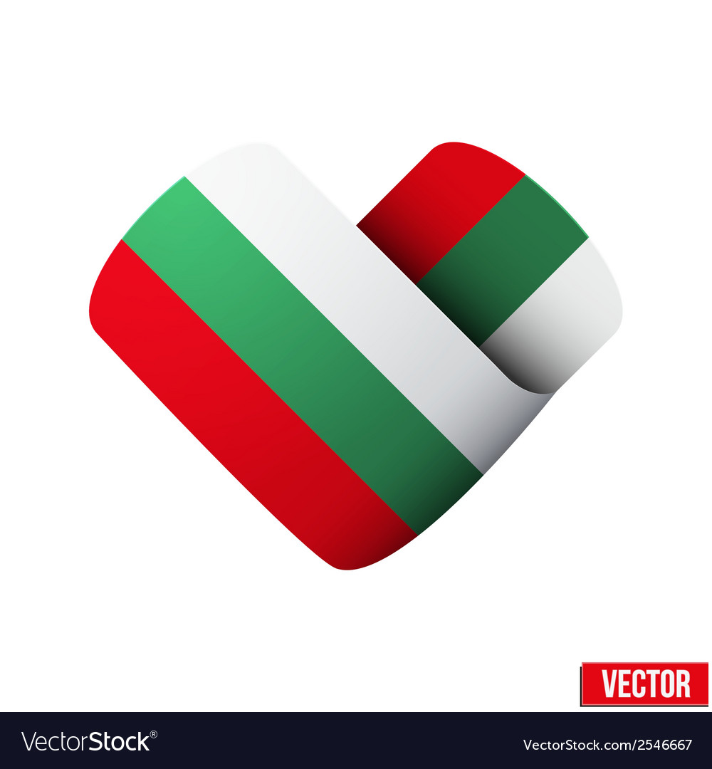 Flag icon in the form of heart i love bulgaria vector | Price: 1 Credit (USD $1)