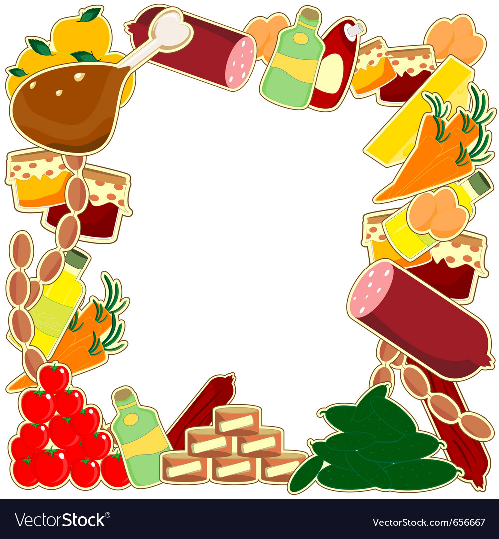 Food frame vector | Price: 1 Credit (USD $1)