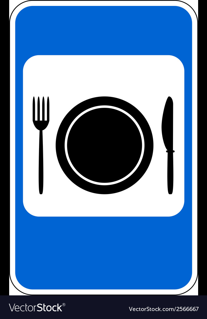 Food item road sign vector | Price: 1 Credit (USD $1)