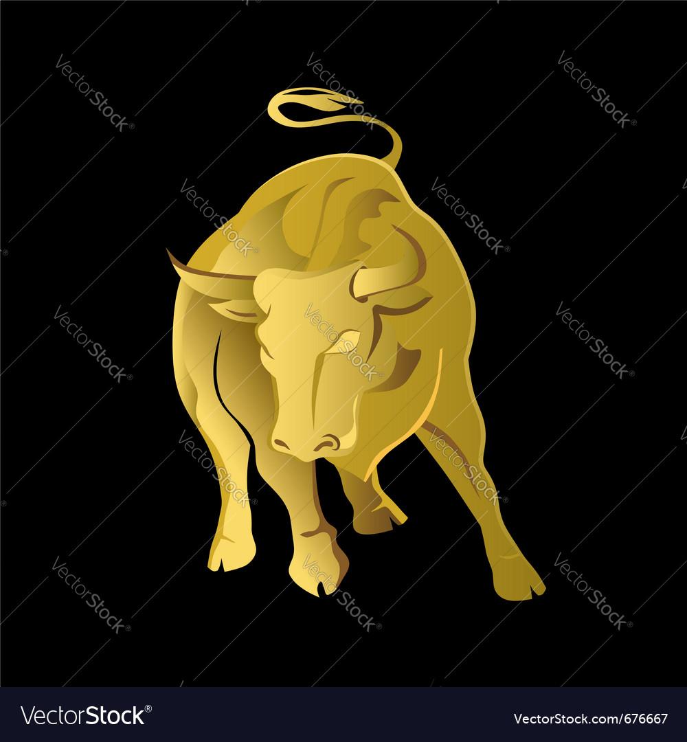 Gold bull vector | Price: 1 Credit (USD $1)