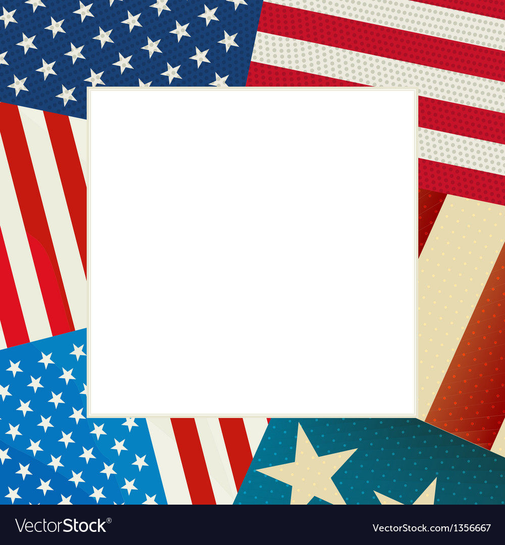 Independence day flag card vector | Price: 1 Credit (USD $1)
