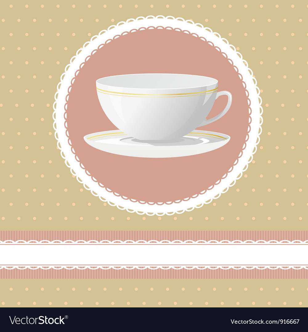 Invitation for tea time vector | Price: 1 Credit (USD $1)
