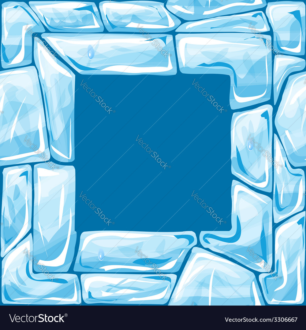 Square frame on ice seamless pattern vector | Price: 1 Credit (USD $1)