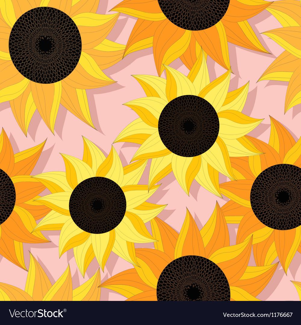 Sunflower pattern design vector | Price: 1 Credit (USD $1)