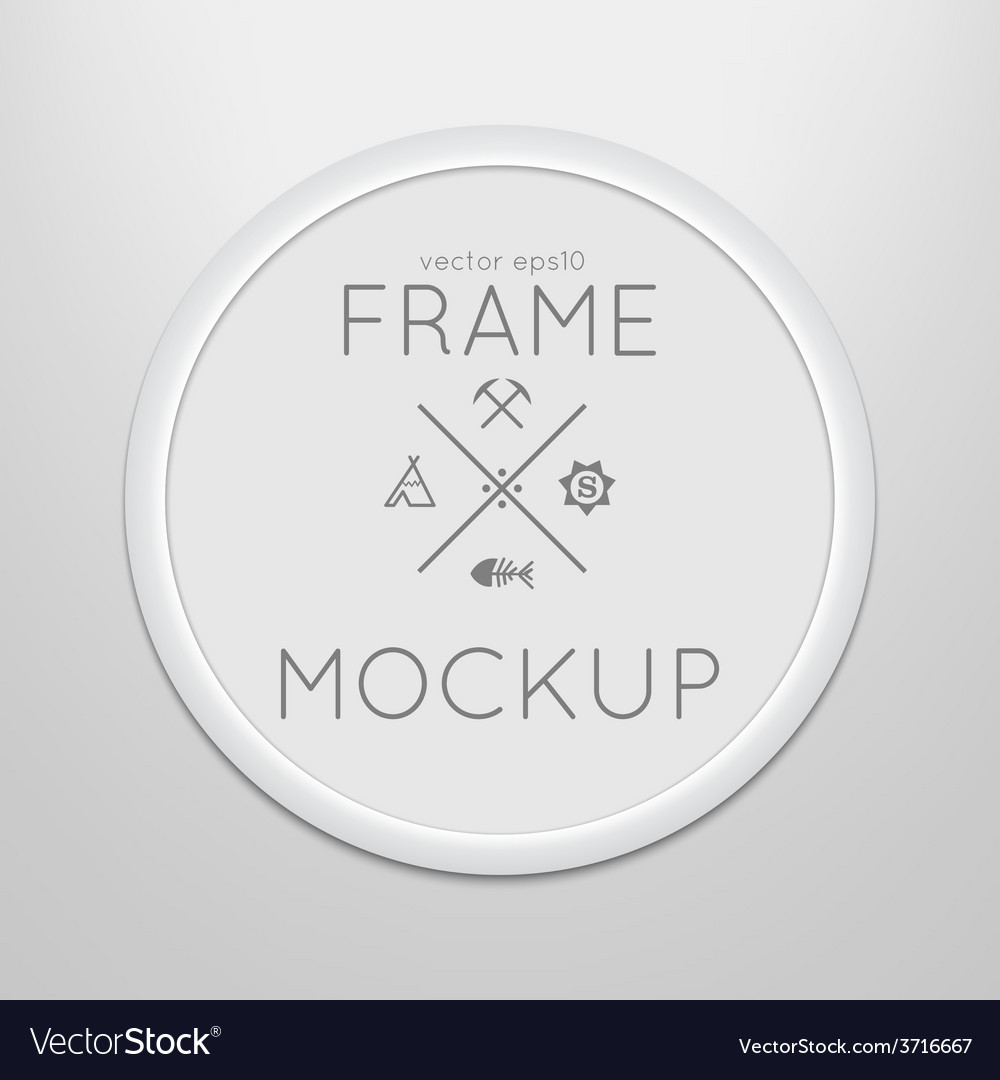 Template of round frame with poster placed vector | Price: 1 Credit (USD $1)
