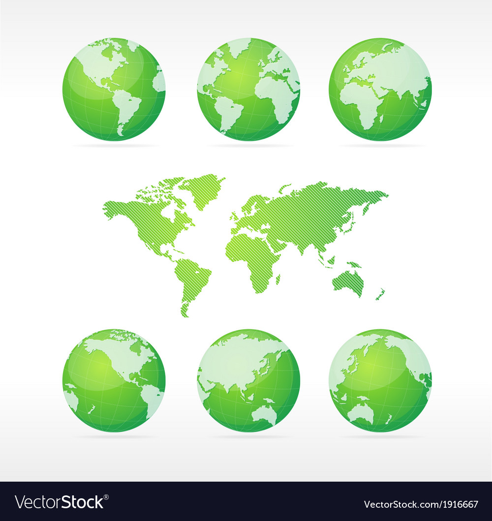 Vecrot globe set and map vector | Price: 1 Credit (USD $1)