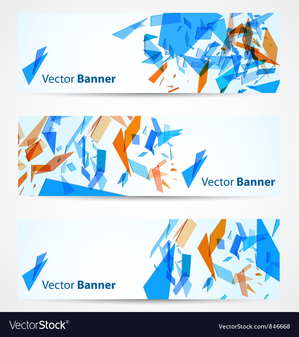 Abstract banners vector | Price: 1 Credit (USD $1)