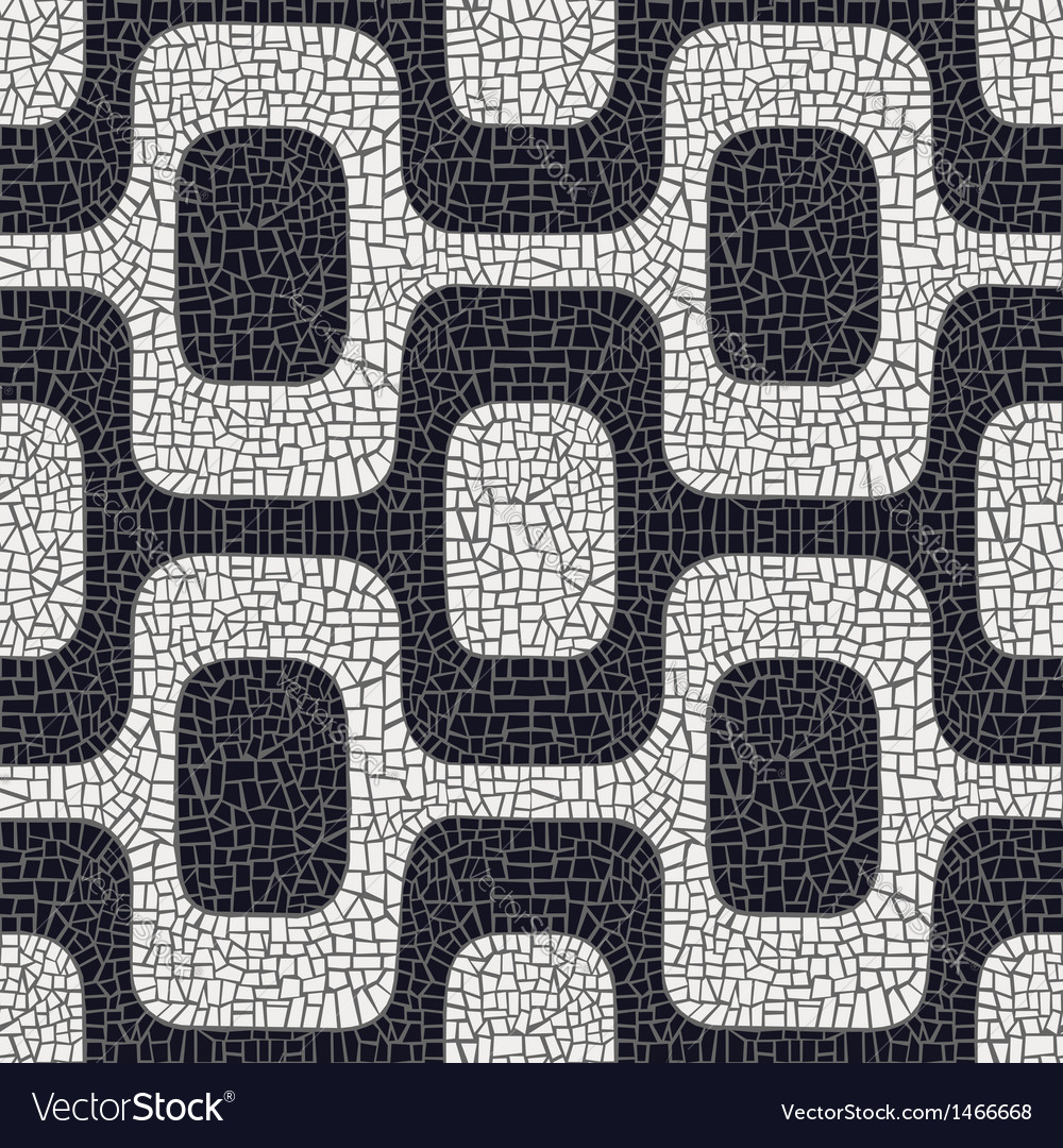 Black white pavement pattern vector | Price: 1 Credit (USD $1)
