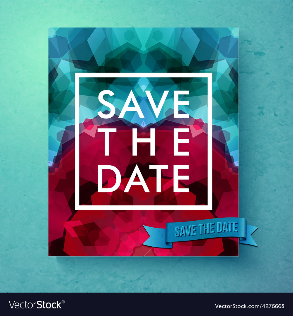 Bold simple save the date wedding template vector | Price: 1 Credit (USD $1)