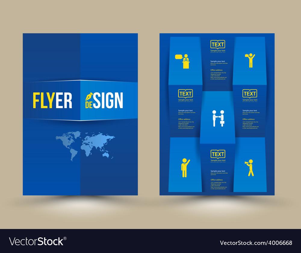 Brochure design template flyer layout magazine cov vector   Price: 1 Credit (USD $1)