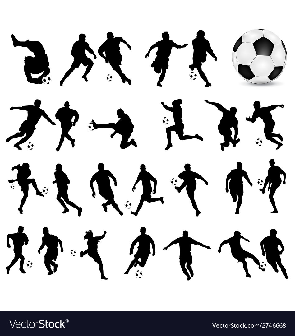 Football players 3 vector | Price: 1 Credit (USD $1)