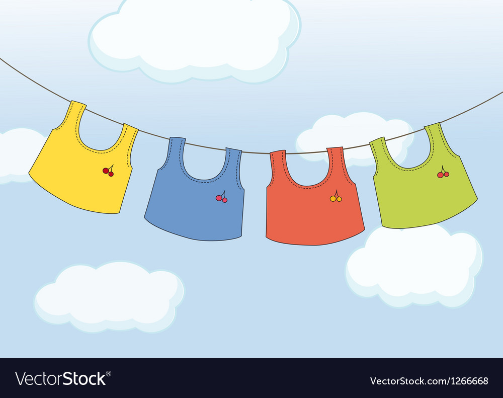 Hanging clothes vector | Price: 1 Credit (USD $1)